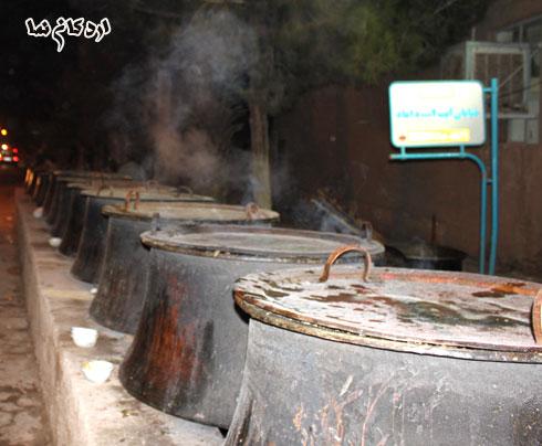 ع دو قلو پروفایل اردکان نما - گزارش تصويري از طبخ آش حسين به مناسبت اربعين ...